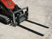 WOMPF-2000 Pallet Forks For Mini Skid Steers 2000 lbs. Capacity