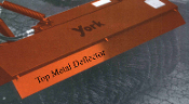 000927 Top Metal Deflector York Sweeper 7 Ft. Long