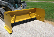 WOSPB-3696R Snow Pusher Plow No Mount Brackets Rubber Edge 8 ft.