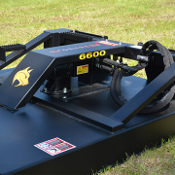 BW6600 skid steer mount hydraulic powered brush mower, standard flow 11-25 gpm required, 66 inches cutting width
