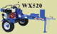 WX520 Wallenstein Tow Behind Horizontal Engine Power Logsplitter
