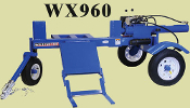 WX960 Tow Behind Engine Powered Logsplitter 3 Wheel Offroad Use