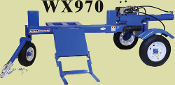 WX970 Tow Behind Engine Powered Log Splitter Splits 48 Inch Logs