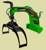 LXG330R Three Point Hitch Log Grapple Hydraulic Rotator 72 Inch