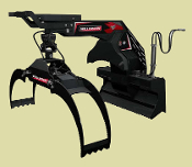 LXG430S Skid Steer Mount Log Grapple Spring Centered 72 Inches