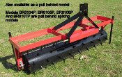 BR8104P Pull Type Spiking Aerator 4 Ft. Wide