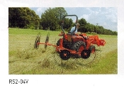 Model RS2-06V Three point hitch mount V-type hay rake with maximum working width of 15 ft. 10 inchs.