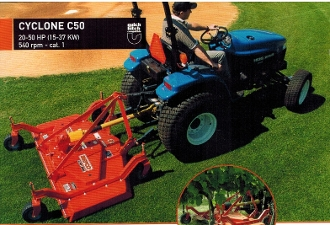 Model C50-RD7A Befco finishing mower with 84 inch wide cutting deck (7 Ft.) with air tires, for tractors from 20 to 50 hp