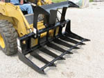 Model ETG-6 Skid Steer Loader Mounted Low Profile Brush Grapple 72 Inches Wide.