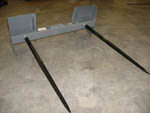 WOSSB-3000 Double Bale Spear Assembly Skid Steer Mount