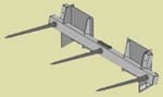 WOSSRB-330 Triple Bale Spear Assembly