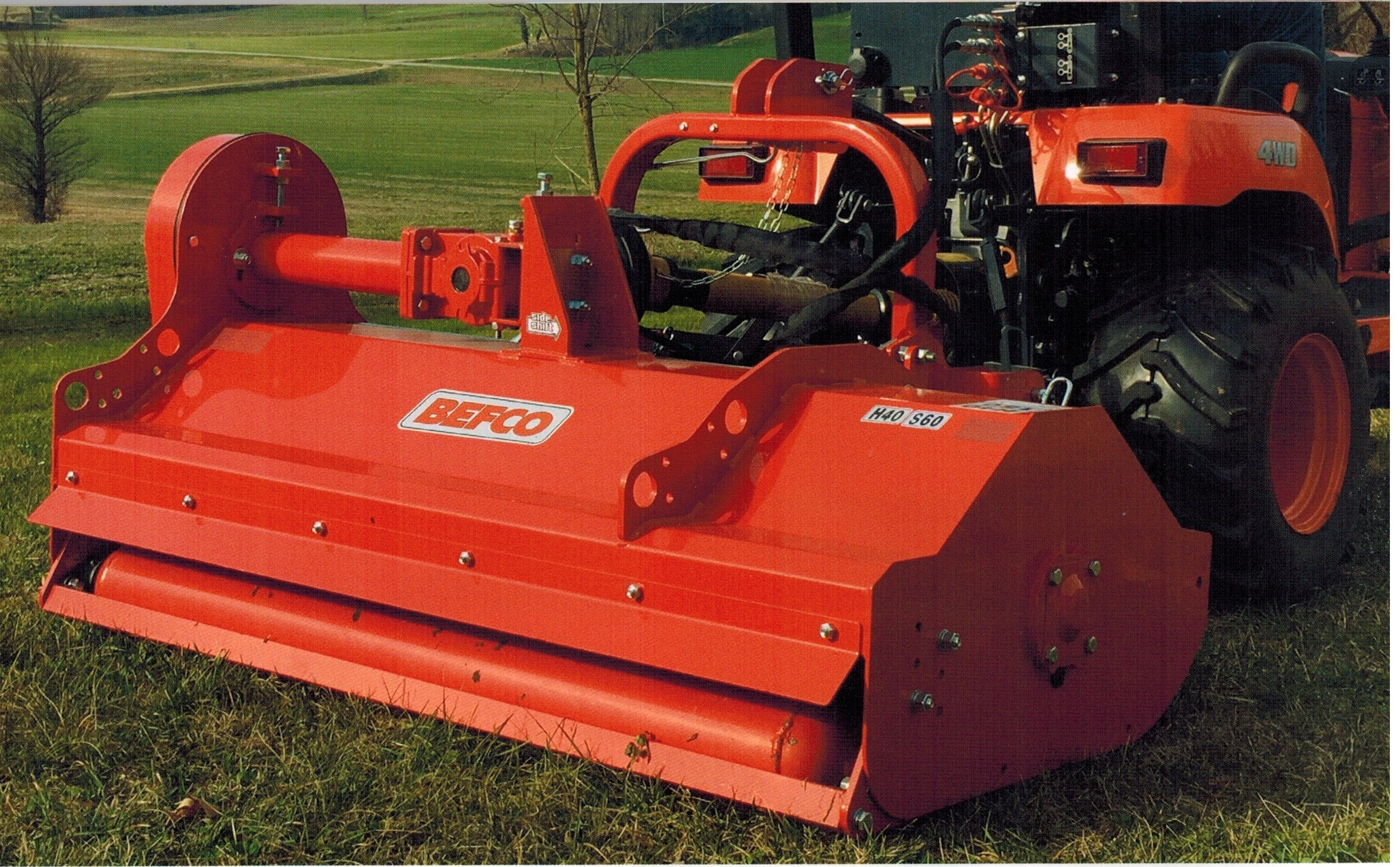 H40-S60 Befco Flail Mower With Side Shift 60 Inches Wide